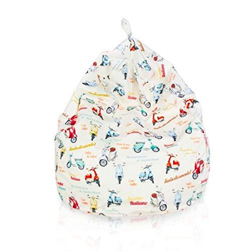 Sitzsack Riesensitzsack L für Kinder Italia 77 x 90cm 230l Füllung Indoor Beanbag Kindersitzsack