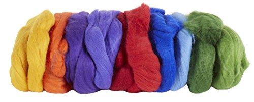 Wichtelwerkstatt 23971 Merinowolle 200 g Regenbogen 9 Farben