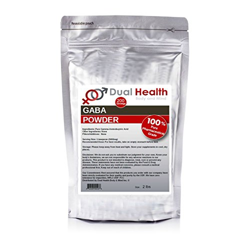 Pure GABA (2 lbs) Gamma Aminobutyric Acid Powder Bulk Supplements