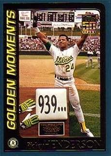 2001 Topps Baseball Card #787 Rickey Henderson