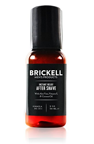 Brickell Mens Instant Relief Aftershave for Men, Natural and Organic Soothing After Shave Balm to Prevent Razor Burn, 2 Ounce, Scented