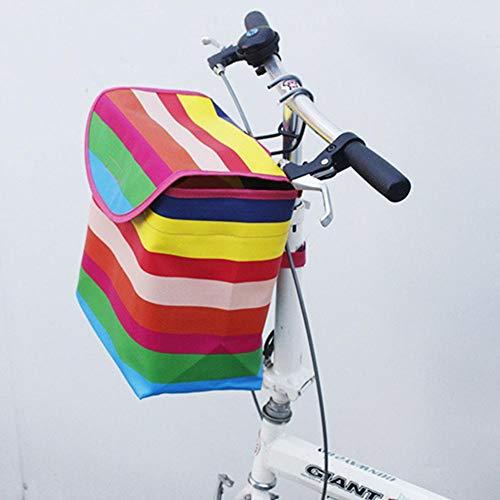 SHOH Inklapbare fietsmand, afneembare multifunctionele fietsmand voor huisdierdragers, levensmiddelboodschappen, Easy Install afneembare tas voor kleine hond boodschappen picknick