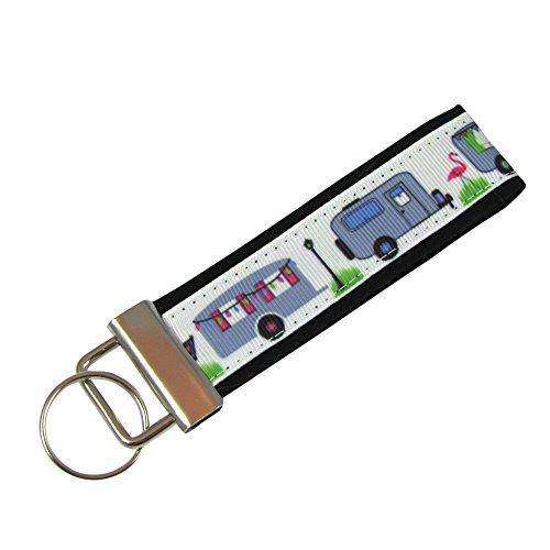 Camping Camper Key Fob/Fabric Key Chain