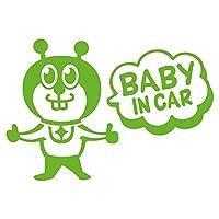 imoninn BABY in car ステッカー 【シンプル版】 No.66 グッドさん (黄緑色)
