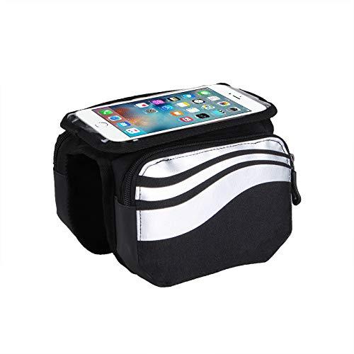 Huyan - Bolsa de viaje impermeable para bicicleta de poliéster con bolsa de sillín para bicicleta de montaña, ligera, bolsa de equitación