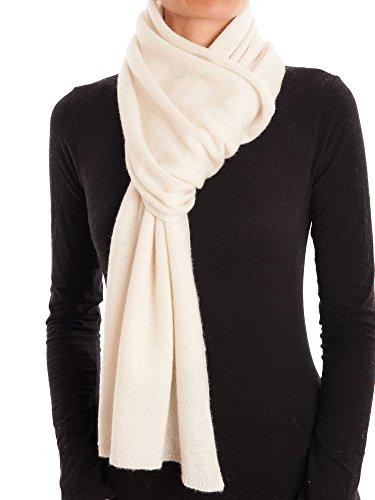 DALLE PIANE CASHMERE - Schal aus 100% Kaschmir - für Mann/Frau, Farbe: Creme, Einheitsgröße