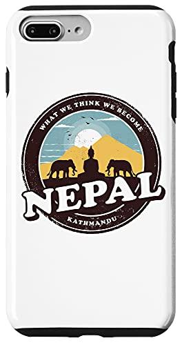 iPhone 7 Plus/8 Plus Nepal Kathmandu Buddha Statue Elephants Vintage Gift Case