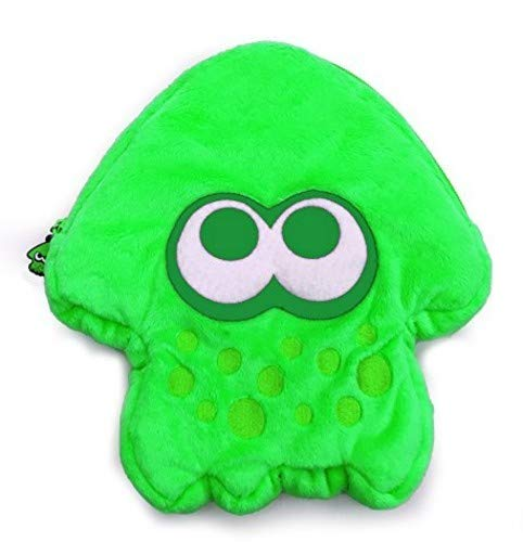 HORI Splatoon 2 Squid Plush Pouch (Neon Green) Officially Licensed - Nintendo Switch
