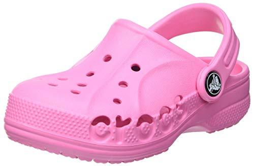 Crocs Baya Clog K Unisex - Bambini Zoccoli, Sabot, Rosa (Pink Lemonade), 30/31 EU