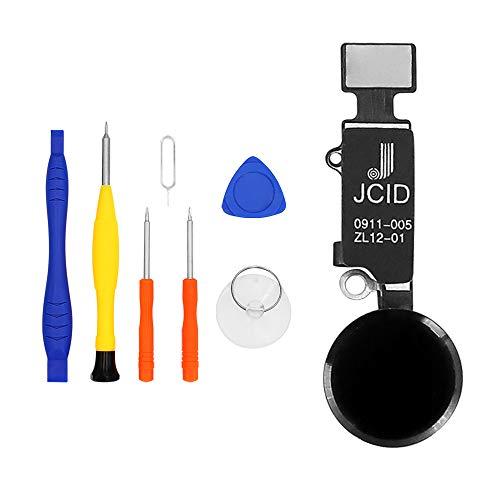 LL TRADER Homebutton für iPhone 7,7 Plus,8,8 Plus Home Button Version 5.0 Home Tastenersatz durch Flexkabel Schwarz + Werkzeug