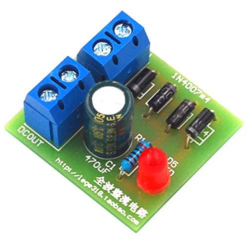 FHJZXDGHNXFGH 1N4007 Brückengleichrichter Wechselstrom-Gleichstrom-Wandler Vollwellengleichrichterplatinen-Kit Stromrichterteile