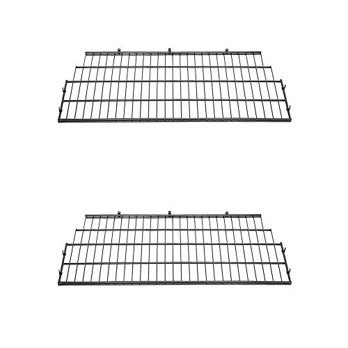 Suncast BMSA7S Vertical Storage Organization Metal Wire Shelf Rack Shelving for Shed with Installation Hardware Included, Black (2 Pack) -  2xBMSA7S