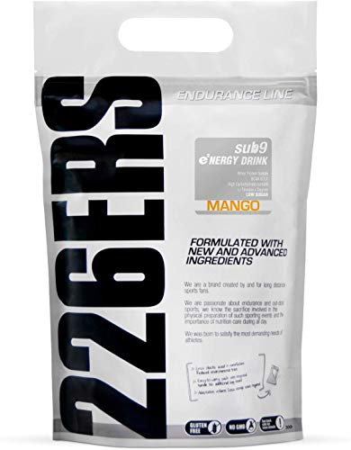 226ERS Sub9 Energy Drink with Whey Protein, BCAAs, Amylopectine, Taurine y L-Carnitine, Mango - 1000 gr