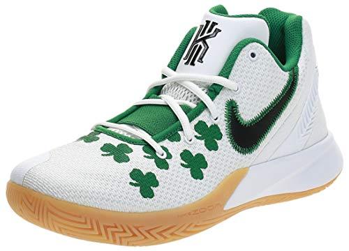 Tênis de basquete masculino Nike, Branco/Preto/Verde, 8.5