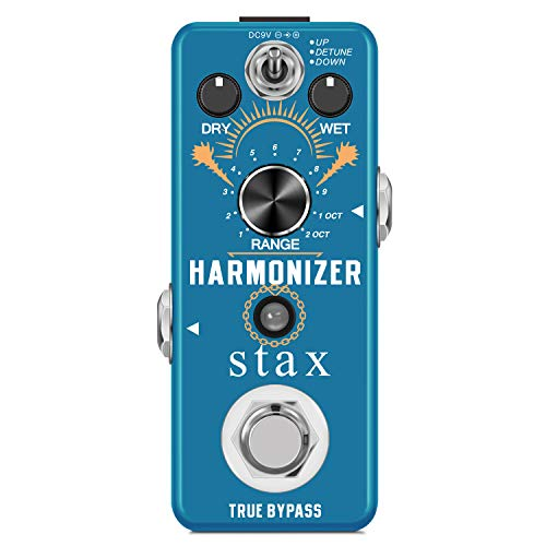 Stax Guitar Harmonizer Pedal Digital Effect Pedal Harmony Pitch Shifter Detune For Electric Guitar Bass Mini Size True Bypass