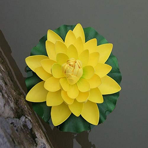 BRTTHYE 18 cm schwimmende Lotus künstliche Blume Hochzeit Home Party Dekorationen DIY Wasser Mariage Pflanzen Pool teich dekor