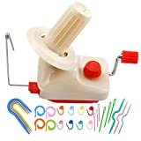 BUTUZE Yarn Ball Winder with 25 Pieces Stitch Knitting Needles,Convenient Ball Winder for Yarn,Yarn Swift and Ball Winder Combo with Easy Installation for Yarn Storage