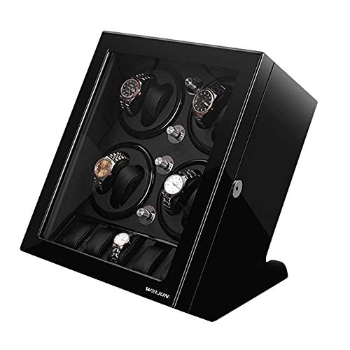 LLSS Carcasa de Madera Caja enrolladora de Reloj automática 8 + 5 Posición de Almacenamiento 5 Modo de rotación silenciosa Relojes antimagnéticos Caja de presentación de almac