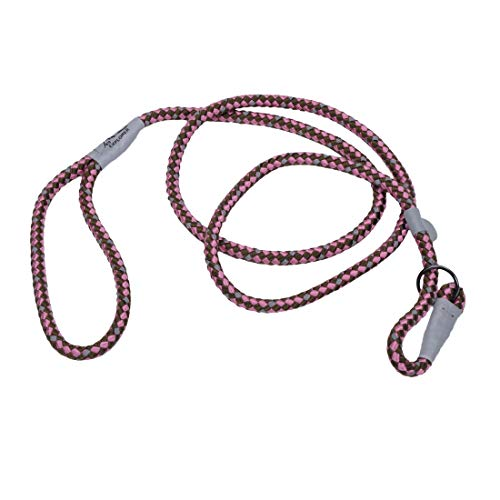 Coastal - K-9 Explorer - Reflective Braided Rope Slip Dog Leash, Rosebud, 06'