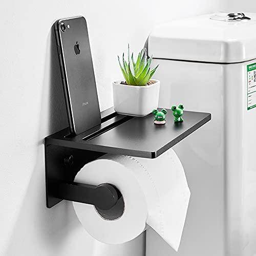 Sxcespp Portarrollos de papel higiénico sin perforaciones, caja de pañuelos de papel higiénico para baño, estante de pared para el hogar, caja de bombeo simple de estilo europeo para el hogar, instala