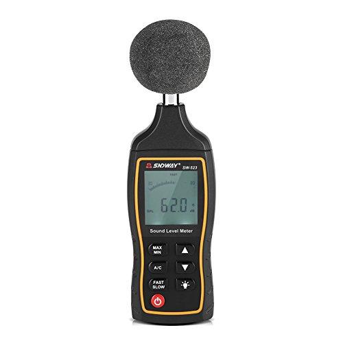 Garosa Digitaler präziser Schallpegel Dezibel-Messgerät Präzise Geräuschmessgerät 30~130dB Messen Sie multifunktional mit LCD für Musiker und Sound-Audio-Profis