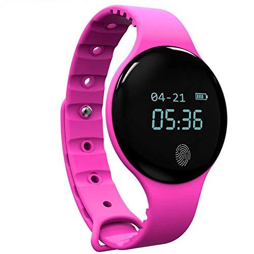 Oyznsb gekleurde smartwatch voor mannen vrouwen en meisjes Ticwatch Sport Fitness Tracker voor iOS Android telefoon, L, Roze