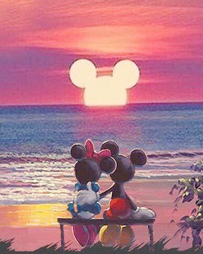 Mickey mouse diy 5d diamant malerei kreuzstich kit cartoon wanddekor 30x40cm