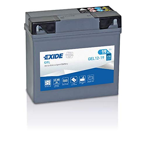 Exide Bike Boot Batterie GEL12-19 GEL12-19, Grau