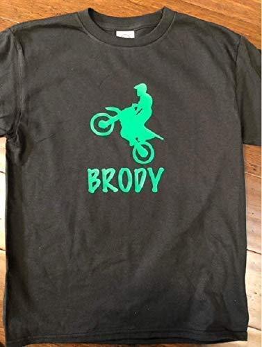 Personalize Dirt Bike shirt boys Dirt Bike tshirt with name first name Dirt Bike t-shirt 1st name Dirt Bike t shirt