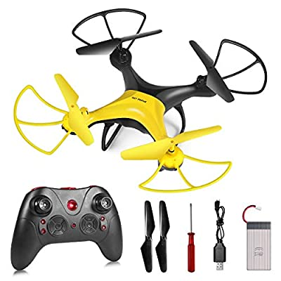 RC Drone, 4CH 2.4G RC Aircraft Long Flight Time, Remote Control Quadcopter with Altitude Hovering & Headless Mode, Toy Plane 3D Flips & Rolls Propellers Full Protect for Kids Beginners Indoor Outdoor