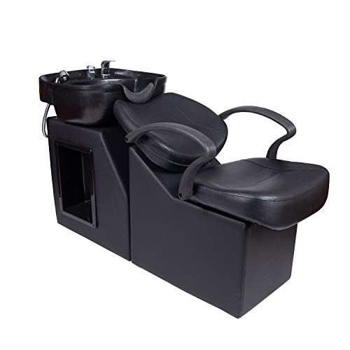 Polar Aurora New Backwash Barber Chair ABS Plastic Shampoo Bowl Sink Unit Station Spa Salon Equipment