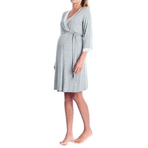 Topgrowth Abbigliamento Premaman Madre Pizzo Abito Casual Vestito maternità Donna Pizzo Incinte Pigiama Abiti da Notte Vestito