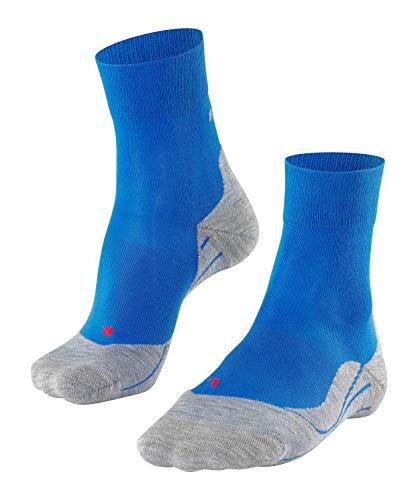 FALKE Damen, RU4 Laufsocken, Wadenlange Runningsocke mit Baumwolle leichte Dämpfung für blasenfreies Laufen auf mittleren bis längeren Strecken, Blau (Cinque Terre 6524), 39-40, 1er Pack