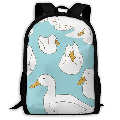 HOJJP Rucksack Travel Backpack Laptop Backpack Large Diaper Bag - Cute Duck Backpack School Backpack for Women & Men