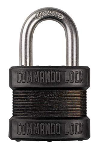 Commando Lock Blackout High-Security Laminated Steel Padlock - Military-Grade Gun Case Locks