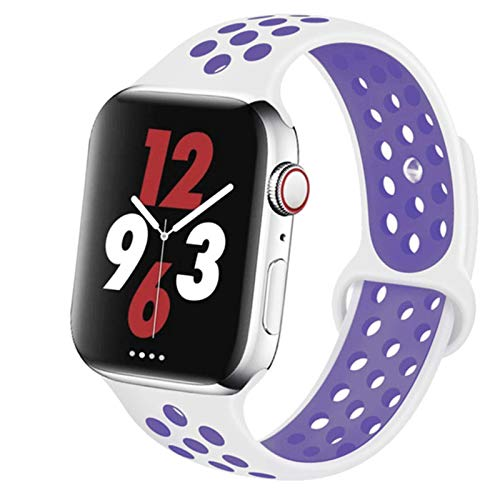 Correa de silicona para Apple Watch Band 44mm 40mm para IWatch Band 42mm 38mm Pulsera transpirable Apple Watch 6 5 4 3 Correa