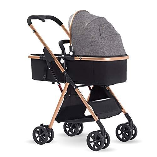 Kinderwagen, lichte kinderwagen, opvouwbare en draagbare stoot-wandelwagen kinderwagen, 5-punts riem en hoge capacity basket
