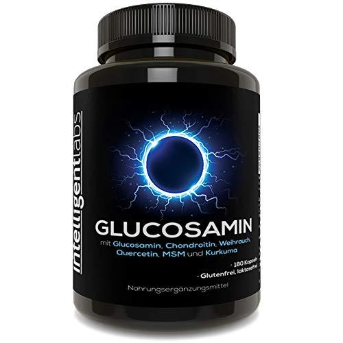 Intelligent Labs 3fach Wirkung 1500mg Glucosamin, mit Methylsulfonylmethan, Chondroitin, Kurkuma, Boswellia und Quercetin, 2 Monate Vorrat