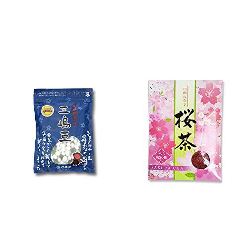 [2点セット] 飛騨 打保屋 駄菓子 三嶋豆(150g)・桜茶(40g)