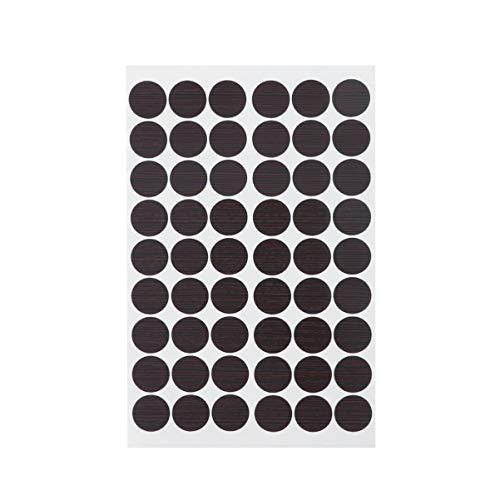 YARNOW Selbstklebende Schraubenlochaufkleber 1 Blatt / 54 Stück Schraubenlochabdeckungen 20 Mm Selbstklebende Möbelschrank-Schraubenlochkappen Staubdichte Aufkleber (1 Blatt)