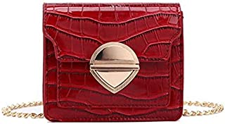 TOOGOO Women'S Retro Handbags and Purses Stone Pu Bag Cute Messenger Bag Ladies Shoulder Bag Yellow Grain Random