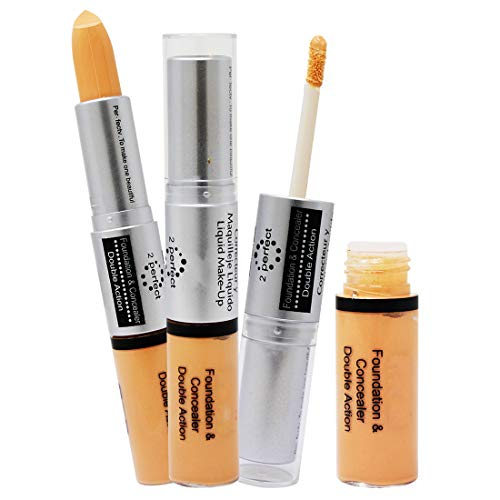 Ads Foundation And Concealer Double Action For Women, 9ml