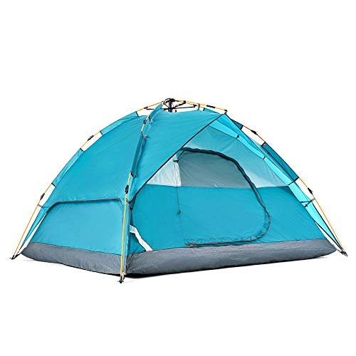 Hewolf Camping Tent Instant Setup - Waterproof Lightweight Pop up Tent Easy up Fast Pitch Tent Great for Beach Backpacking Hiking