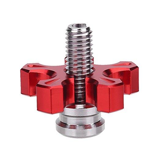 Motorrad Kupplung Bremshebel Schraube Kupplungszug Versteller,Motorrad Universal Aluminium Gefräste Kupplungsseil Einstellschraube(Red)