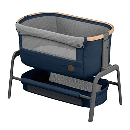 Bébé Confort Iora Berceau Cododo avec fonction coulissante facile, convient dès la naissance, de 0 à 9kg, Essential Blue