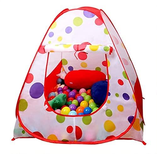 Eocusunの子供たちの子供たち遊ぶテントテントハウスポップアップ屋外屋内ボールピットベビービーチテントプレイハウスw/ジッパー収納ケース男子の女の子