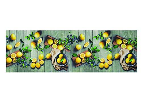 SOFFICIOSO Tappeto Passatoia da Cucina Sprinty Antiscivolo Stampa Digitale Limoni 50x320 Limoni