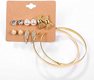 Women's Alloy Crystals&Imitation Pearl Earrings Jewelry Set
