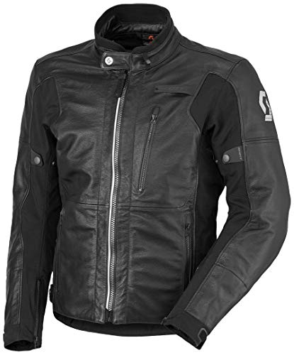 Scott Tourance DP Leder Motorrad Jacke schwarz 2018: Größe: M (48/50)