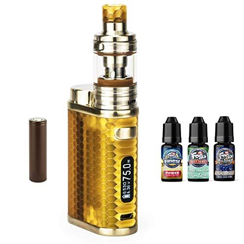 Preisvergleich Produktbild SC Eleaf iStick Pico Resin Kit inkl. Melo 4 D22 (2 ml) 3000mAh + 3 x 10 ml Dr. Fog by Premium Labs Liquid (nikotinfrei) E-Zigarette (bernstein)